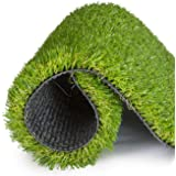 SavvyGrow Artificial Grass for Dogs AstroTurf-Rug - Premium 4 Tone Synthetic Astro Turf, Easy to Clean with Drain Holes - Fak