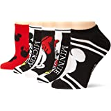 Disney womens Mickey Mouse 5 Pack No Show Socks