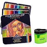 Prismacolor Premier Soft Core Colored Pencil Set of 48 Assorted Colors (3598T) + Prismacolor Scholar Colored Pencil Sharpener