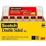 Scotch 6137H-2PC-MP Double Sided Tape, Original Version, 1/2 X 500 Inches, 6 Count