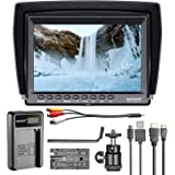 Neewer F100 7-inch 1280x800 IPS Screen Camera Field Monitor Kit: Support 4k Input with 2600mAh Rechargeable Li-ion Battery Pa