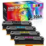 Amstech Compatible Toner Replacement for HP 206A 206X Toner Cartridges M255dw M283fdw HP Color Laserjet Pro M255dw MFP M283fd