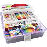 Olly Kids Arts and Crafts Supplies Set- 1000+ Pieces Craft Gift Box for Kids: DIY Craft Supplies for Toddlers, School Project