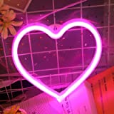 Heart Neon Signs for Wall Decor,USB or Battery Decor Light,Neon Light for Bedroom,LED Neon Decorative Lights for Christmas,Pa