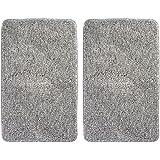mDesign Soft Microfiber Polyester Non-Slip Rectangular Spa Mat, Plush Water Absorbent Accent Rug Bathroom Vanity, Bathtub/Sho