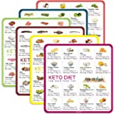 Keto Cheat Sheet Magnets(6 Pcs), Keto Products for Beginner, Quick Guide Fridge Magnetic Reference Visual Charts for 96 Keto