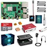 LABISTS Raspberry Pi 4 Complete Starter Kit with Pi 4 Model B 4GB RAM Board, 64GB Micro SD Card Preloaded Noobs, 5V 3A Power