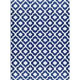 BalajeesUSA 9'x12' Indoor Outdoor Patio Plastic Straw Rugs Camping RV Picnic Wholesale Price Mat Rug Dark Nv Blue 4484