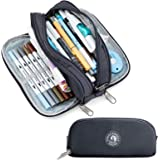 Large Capacity Pencil Case, KALIDI Pencil Pouch Office College School Large Storage Pen Bag 3 Compartment Pencil Cases for Ad