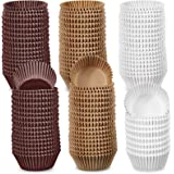 1000 Pieces Baking Cups Liners Paper Cake Cups Cake Case Muffin Cupcake Liners Cupcake Wrappers, 3 Colors Brown, Natural and