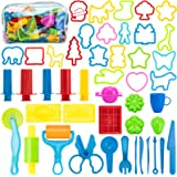 Maykid Play Dough Tools for Kids, 46PCS Playdough Tools Kit Include Dough Accessory Molds Rollers Cutters Scissors and Storag