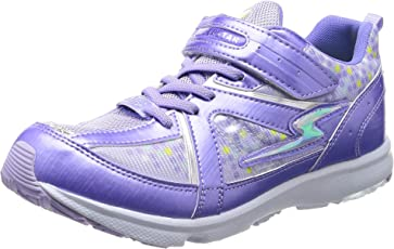 [スーパースター] 運動靴 通学履き バネ バネのチカラ 女の子 軽量 マジック ゆったり SS J807