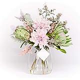 Forever Flowering Coraline Flower Arrangement Glass Vase 1 Each