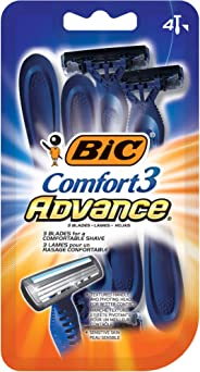 BIC Comfort 3 Advanced Men's Razors - Pack of 4