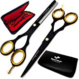 Saaqaans Professional Hairdressing Scissors - Hair Cutting Thinning Shears - Suitable for Barbers/Hairdresser/Hair Salon/Beau