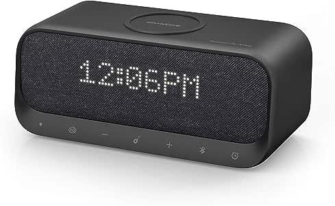 Anker Soundcore Wakey Qi 対応 Bluetooth スピーカー ワイヤレス充電器 高音質 ラジオ 目覚まし時計 10W出力 iPhone & Android対応 デュアルドライバー ステレオサウンド (ブラック)