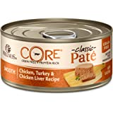 Wellness Core Grain Free Canned Cat Food, Chicken, Turkey & Chicken LiverPate, 5.5 Ounces (Pack of 24)
