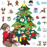 FINGOOO DIY Felt Christmas Tree Set,Wall Hanging Felt Xmas Tree for Kids Toddlers Party Supplies