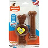 Nylabone Just For Puppies Wolf Ring and Flexi Bone Puppy Dog Chew Toy, Combo Pack