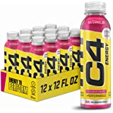 Cellucor C4 Energy Non-Carbonated Zero Sugar Energy Drink, Pre Workout Drink + Beta Alanine, Watermelon, 12 Fl Oz (Pack of 12