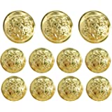 Grekywin Vintage Metal Button Brass High-Grade Buttons for Jeans, Coat, Blazer, Suits, Jacket etc. Exotic Customs Style