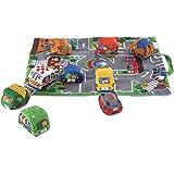 Melissa & Doug Take-Along Town Play Mat, 9 Soft Vehicles, (19.25 x 14.25 inches)
