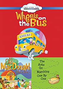 Wheels on the Bus / Old Macdonald Had a Farm / The Ants Go Marching One by One [DVD]