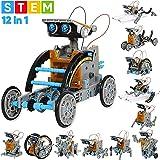 Sillbird STEM教育ソーラーロボットキット キッズ 科学玩具 12種類ロボット DIY知育玩具キット 組み立て式 科学実験 8-12歳以上の子供に適用 太陽光発電