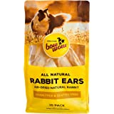 Bow Wow, Rabbit Ears, Dog Treats, All Sizes, 10 pack, All Natural Grain and Gluten Free