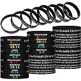 Religious Silicone Wristbands Christian Bible Verses Bracelets Scripture Rubber Bracelets Colored Faith Hope Belief Wristband