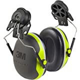 3M Peltor X-Series Cap-Mount Earmuffs, NRR 25 dB, One Size Fits Most, Black/Chartreuse X4P3E (Pack of 1)