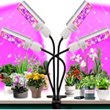 LED Grow Light for Plant- 96W Full Spectrum for Grow Lamp with 176 LED, More Stronger Adjustable Gooseneck, 3/6/12H Timer, 6