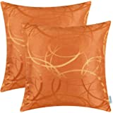 Pack of 2 CaliTime Cushion Covers Throw Pillow Cases Shells for Couch Sofa Home Decor Modern Shining & Dull Contrast Circles