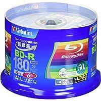 Verbatim バーベイタム 1回録画用 ブルーレイディスク BD-R 25GB 50枚 ホワイトプリンタブル 片面1…
