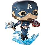 Funko 45137 Avengers 4 Captain America with Mjolnir Pop Vinyl Figure, Multicolour