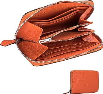 aidayi ミニ財布 レディース コンパクト 小銭入れ メンズ コインケース 本革 短財布 カードケース カード収納 ラウンドファスナー フランス 多色