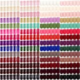 960 Pieces 40 Sets Medium Square Press on Nails Medium Glossy Square Fake Nails Medium Matte Square Artificial Nails for Nail