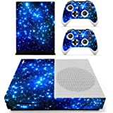 SKINOWN Xbox One Slim Skin Sticker Vinly Decal Cover for Xbox One S Blue Starry Sky