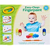 Crayola Washable Finger Paint Station, Less Mess Finger Paints for Toddlers, Kids Gift