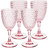 Laguna Beach Wine Glass Pink, 12oz, set of 4, Shatterproof Tritan Drinking Glasses - Unbreakable Glassware for Indoor and Out