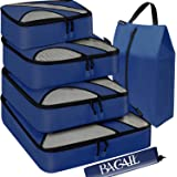 Bagail 6 Set Packing Cubes,Travel Luggage Packing Organizers with Laundry Bag Navy