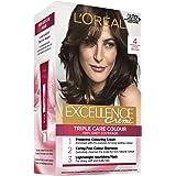 L'Oréal Paris Excellence Creme, 4 Dark Brown (100% Grey Coverage)