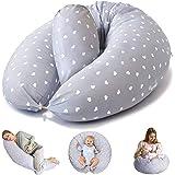 Bamibi Multifunctional Pregnancy Pillow & Breastfeeding Pillow + Inner Cushion. Cover 100% Cotton, Filling 100% Polyester, Ba