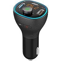 「2021最新設計」FMトランスミッター Bluetooth5.0 高音質 PD18W&QC3.0急速充電 Google…