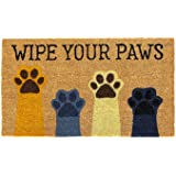 Wipe Your Paws Door Mat, All Natural Coir Fiber with PVC Backing, 17x29 ADW032