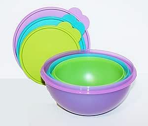 (Large) - Tupperware Wonderlier Bowl Set 7.6cm New Colours