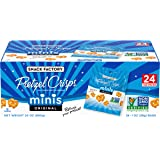 Snack Factory Pretzel Crisps, Original Minis, Single-Serve, 1 Ounce, Pack of 24