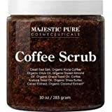 Majestic Pure Arabica Coffee Scrub - All Natural Body Scrub for Skin Care, Stretch Marks, Acne & Cellulite, Reduce the Look o