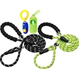 haapaw Slip Lead Dog Leash with Comfortable Padded Handle Reflective, Mountain Climbing Rope Dog Training Leashes for Large M