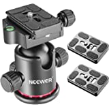 Neewer Photography Metal 360 Degree Rotating Panoramic Ball Head with Universal Quick Shoe Plate with Bubble Level for Tripod
